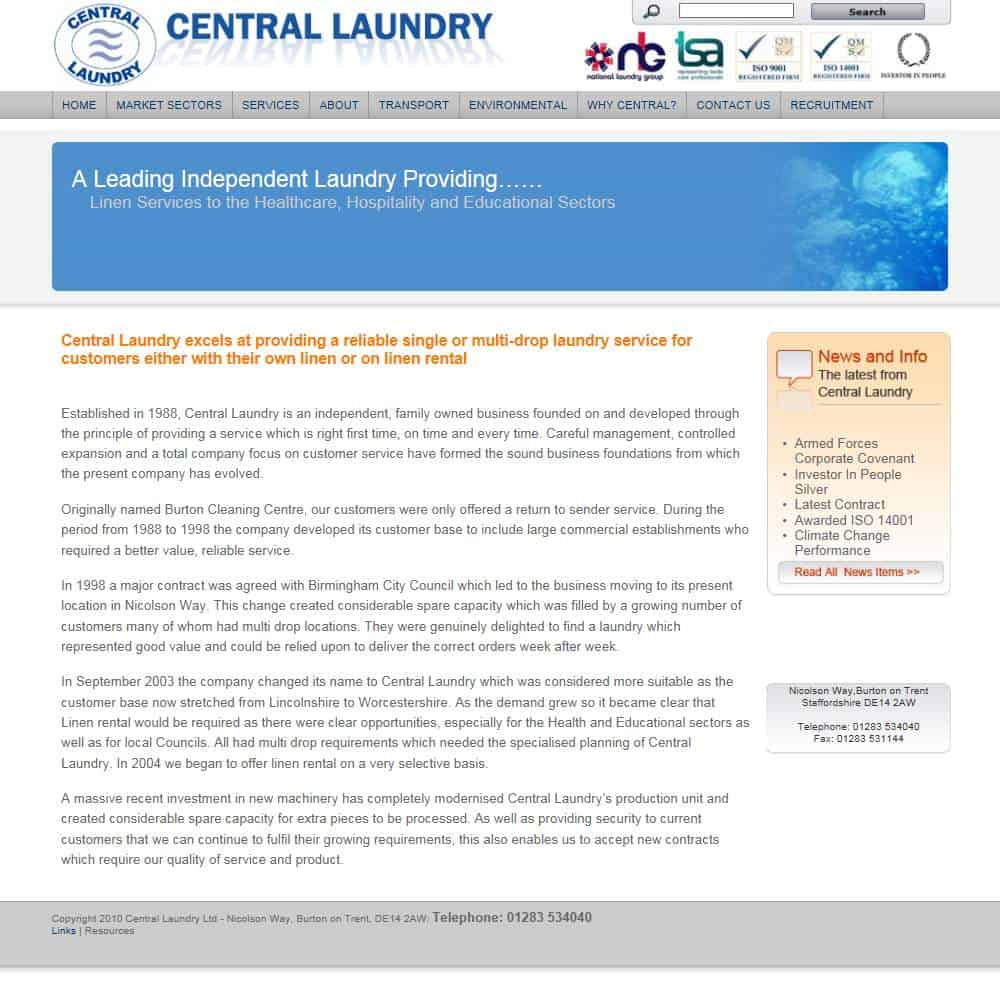 central laundry webshot
