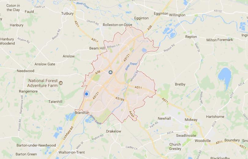 burton local SEO map